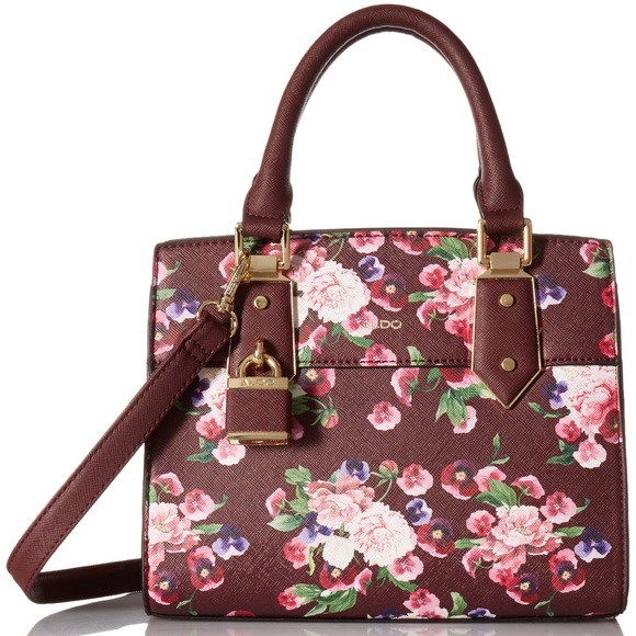 f4b2aea489a Aldo Handbags - Aldo maroon floral Olilidia tote bag!